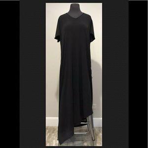 Avenue Plus Sz 18/20 Black liquid knit dress new